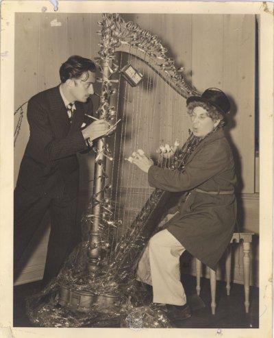Salvador Dali and Harpo Marx