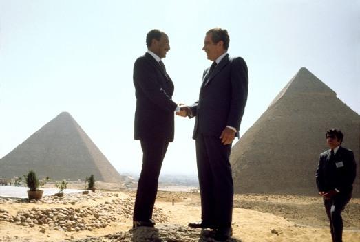 EGYPT. Cairo. Left: Egyptian president Anwar El SADAT. June 12th,1974.