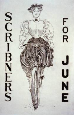 Scribers for June cover with biking Gibson Girl, 1895. Image via Library of Congress.