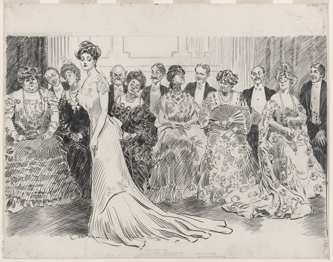 Gibson Girl The Jury Disagrees by Charles Dana Gibson